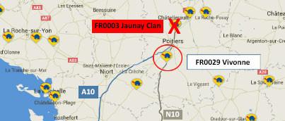 Cierre de la estación FR0003 Jaunay Clan